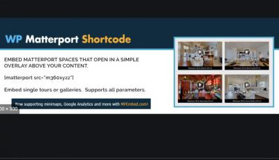 WP Matterport Short Code 3D Model